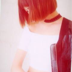 ストレート ボブ モード 秋 ヘアスタイルや髪型の写真・画像