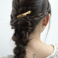 ヘアアレンジ ショート 三つ編み 簡単ヘアアレンジ ヘアスタイルや髪型の写真・画像