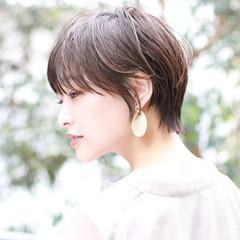 ナチュラル ショート ショートヘア デジタルパーマ ヘアスタイルや髪型の写真・画像