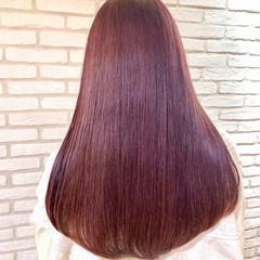 ロング エレガント ピンクバイオレット ラベンダーピンク ヘアスタイルや髪型の写真・画像