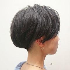 刈り上げ マッシュショート ハンサムショート 刈り上げ女子 ヘアスタイルや髪型の写真・画像