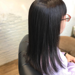ストレート 大人ロング 縮毛矯正 ナチュラル ヘアスタイルや髪型の写真・画像