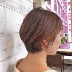 パーマ ショートボブ ボブ アンニュイほつれヘア ヘアスタイルや髪型の写真・画像