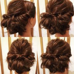 ガーリー ロング パーティ ヘアアレンジ ヘアスタイルや髪型の写真・画像