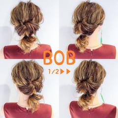 ヘアアレンジ アウトドア 簡単ヘアアレンジ デート ヘアスタイルや髪型の写真・画像