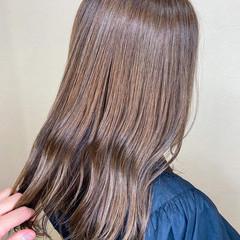 ミントアッシュ 髪質改善トリートメント サイエンスアクア セミロング ヘアスタイルや髪型の写真・画像