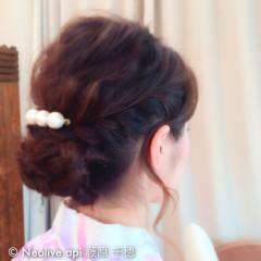 ヘアアレンジ ミディアム 夏 和装 ヘアスタイルや髪型の写真・画像