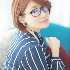 グラデーションカラー 外国人風 ショート フェミニン ヘアスタイルや髪型の写真・画像