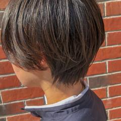 アディクシーカラー ショートボブ ナチュラル ミニボブ ヘアスタイルや髪型の写真・画像