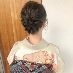 着物 結婚式ヘアアレンジ ガーリー 振袖ヘア ヘアスタイルや髪型の写真・画像