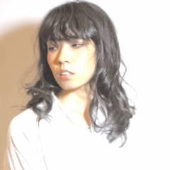 卵型 ナチュラル ロング モード ヘアスタイルや髪型の写真・画像