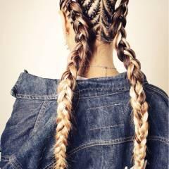 コーンロウ ロング ストリート かっこいい ヘアスタイルや髪型の写真・画像