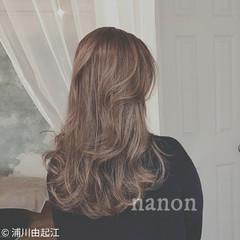 ロング エレガント デート ゆるふわ ヘアスタイルや髪型の写真・画像
