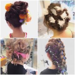 ゆるふわ グラデーションカラー ヘアアレンジ フェミニン ヘアスタイルや髪型の写真・画像