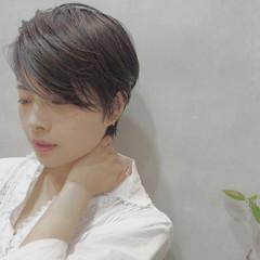 黒髪 暗髪 ショート ストリート ヘアスタイルや髪型の写真・画像