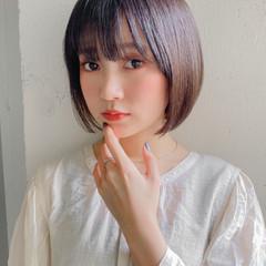 ミニボブ ミディアムレイヤー 韓国ヘア ウルフカット ヘアスタイルや髪型の写真・画像