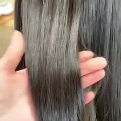 ナチュラル 似合わせカット ブラントカット ツヤ髪 ヘアスタイルや髪型の写真・画像