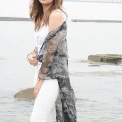 外国人風 ブリーチ ハイトーン セミロング ヘアスタイルや髪型の写真・画像