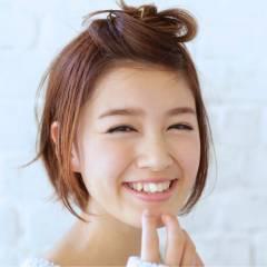 愛され ヘアアレンジ ナチュラル 卵型 ヘアスタイルや髪型の写真・画像
