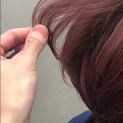 透明感カラー ピンク ナチュラル ショート ヘアスタイルや髪型の写真・画像