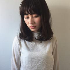 ミディアム パーマ モード ボブ ヘアスタイルや髪型の写真・画像