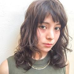 グラデーションカラー ミディアム アッシュ ナチュラル ヘアスタイルや髪型の写真・画像