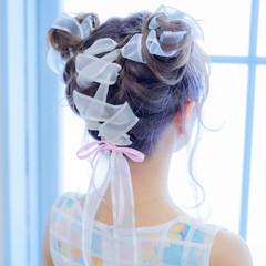 ガーリー ヘアアレンジ かわいい ゆるふわ ヘアスタイルや髪型の写真・画像
