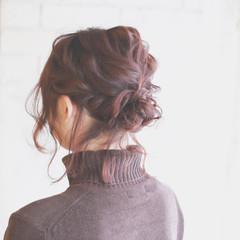 ゆるふわ 簡単ヘアアレンジ ショート 大人かわいい ヘアスタイルや髪型の写真・画像