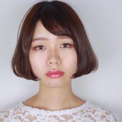 ワンカール 外国人風 ガーリー ボブ ヘアスタイルや髪型の写真・画像