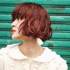 ボブ ストリート 色気 秋 ヘアスタイルや髪型の写真・画像