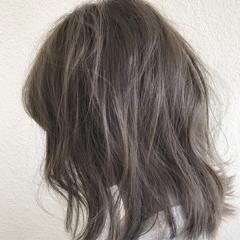 ホワイト 外国人風カラー グラデーションカラー ボブ ヘアスタイルや髪型の写真・画像