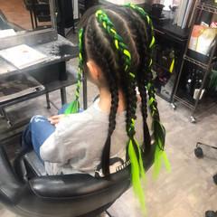 ストリート キッズ 編み込みヘア ヘアセット ヘアスタイルや髪型の写真・画像