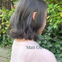 ベージュ グレージュ ナチュラル ボブ ヘアスタイルや髪型の写真・画像