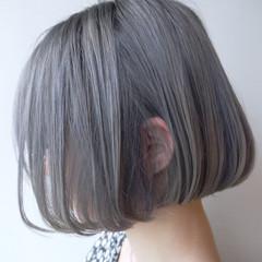 透明感 ハイトーン ボブ ショート ヘアスタイルや髪型の写真・画像