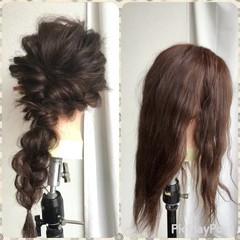 ショート 簡単ヘアアレンジ 編み込み 大人女子 ヘアスタイルや髪型の写真・画像