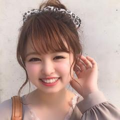 簡単ヘアアレンジ 大人かわいい フェミニン ヘアアレンジ ヘアスタイルや髪型の写真・画像