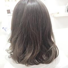 ガーリー 外国人風カラー 暗髪 アッシュ ヘアスタイルや髪型の写真・画像