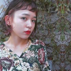 色気 ベージュ グラデーションカラー ハイライト ヘアスタイルや髪型の写真・画像
