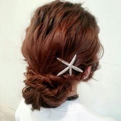 セミロング 簡単ヘアアレンジ ヘアアレンジ ショート ヘアスタイルや髪型の写真・画像