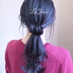ポニーテール ロング 大人かわいい エレガント ヘアスタイルや髪型の写真・画像