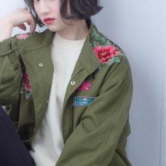暗髪 ストリート ハイライト 色気 ヘアスタイルや髪型の写真・画像