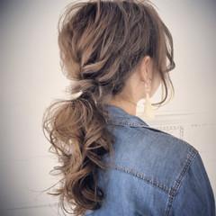 アンニュイ コンサバ ヘアアレンジ セミロング ヘアスタイルや髪型の写真・画像