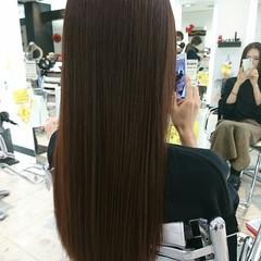 リラックス ナチュラル 秋 パープル ヘアスタイルや髪型の写真・画像