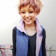 大人女子 ナチュラル 黒髪 ピンク ヘアスタイルや髪型の写真・画像