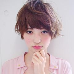ショート マッシュ ガーリー 田中美保 ヘアスタイルや髪型の写真・画像