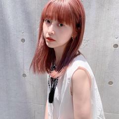 ベリーピンク ピンク ピンクブラウン ガーリー ヘアスタイルや髪型の写真・画像