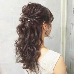 成人式 簡単ヘアアレンジ 謝恩会 結婚式 ヘアスタイルや髪型の写真・画像