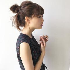 女子会 ミディアム ナチュラル 簡単ヘアアレンジ ヘアスタイルや髪型の写真・画像