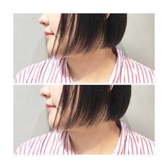 ナチュラル ショート 色気 ボブ ヘアスタイルや髪型の写真・画像