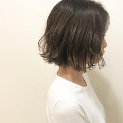 抜け感 切りっぱなし ナチュラル グレージュ ヘアスタイルや髪型の写真・画像